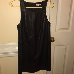 Black leather dress-Urban Outfitters